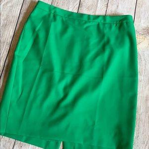 Kelly green skirt